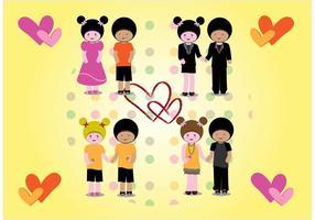 Love Couples Vectors