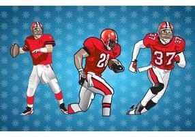 American Football Players Vector