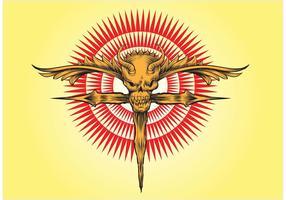 Skull Cross Vector Artwork