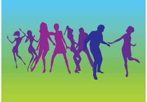 Dansers Silhouettenvectoren