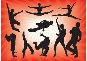 Dancing People Vector Graphics