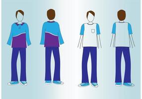T-Shirt Mockup-Vektoren