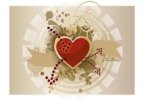 Heart Banner Vector Graphics