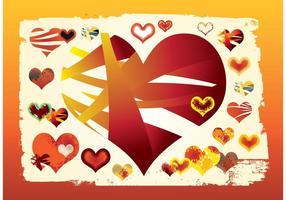 Libres de vectores Gráficos de los corazones