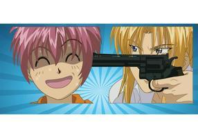 Anime Violence Vector