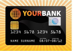 Tarjeta de crédito vector libre