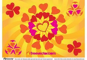 Sunny Heart Vector Graphics