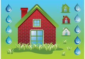 Green-home-ecology-vectors