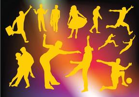 Active People Vector Graphics