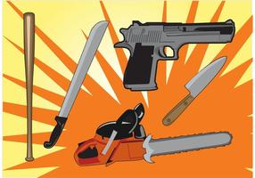 Murder-weapons-vector-graphics