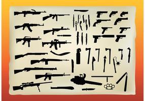 Graphiques vectoriels libres d'armes