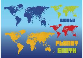 Mapas vetoriais da Terra do Planeta