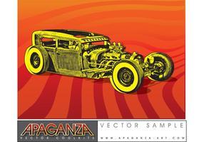 Hotrod coche vector