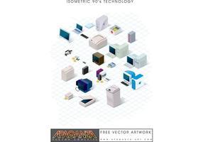 Neunziger-Technologie-Vektor