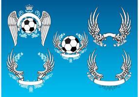 Gráficos vetoriais de futebol vintage