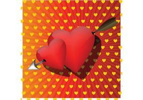 Vector de carte d'amour romantique