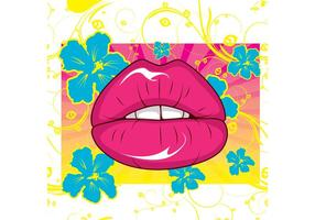 Vetor de lábios sexy