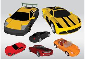 Rennwagen-Vektoren