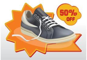 Vector de venta de zapatos
