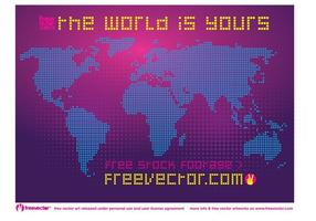 Carte mondiale pointillée gratuite