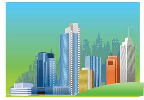 Vector illustratie van de stads skyline