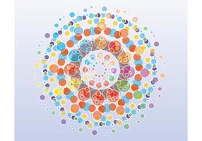 Fundo de círculos coloridos gratuitos