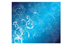 Blue Floral Vector Background