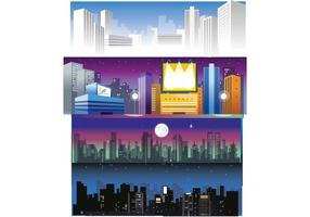 Gratis City Skyline Vectors