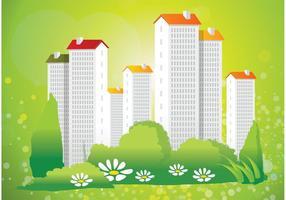 Verde de la vida de la ciudad Vector