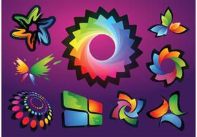 Kleurrijke logo-vectoren