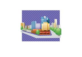 Gratis City Buildings Vector