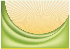 Vector de onda verde