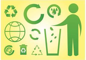 Grüne Welt Icons