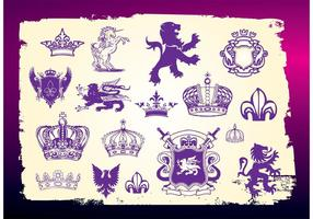 Medieval-heraldry-vectors