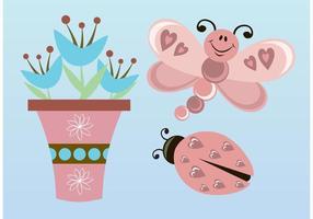 Vector de flores de borboleta