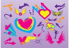 Liebe Flügel Vektoren