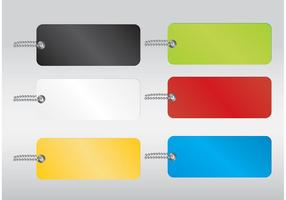 Colored Vector Tags