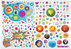 Pack de iconos vectoriales