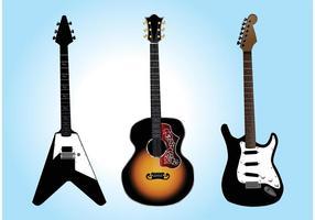 Graphiques vectoriels de guitare gratuits