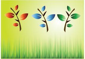 Vectores de plantas de hierba