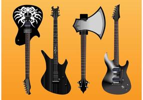 Guitarras Eléctricas Vector Freebies