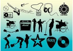 Vectores gratis de música rock