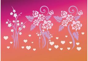 Kärlek Blommor vektorer