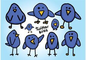 Vecteurs libres d'oiseaux de twitter