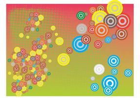 Fundo de vetores de círculos coloridos