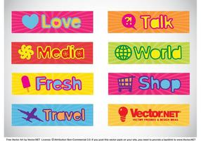 Text Banners Vector