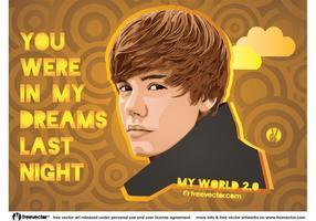 Vetor Justin Bieber