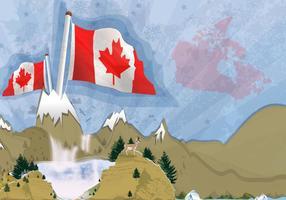 Vector de paysage des montagnes du Canada