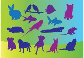 Vector Pets Silhouettes