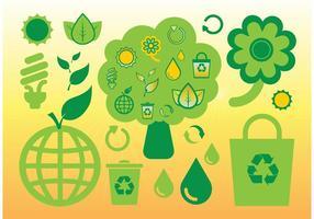 Gratis ecologie vector iconen